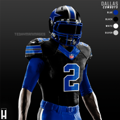 black and blue cowboys jersey